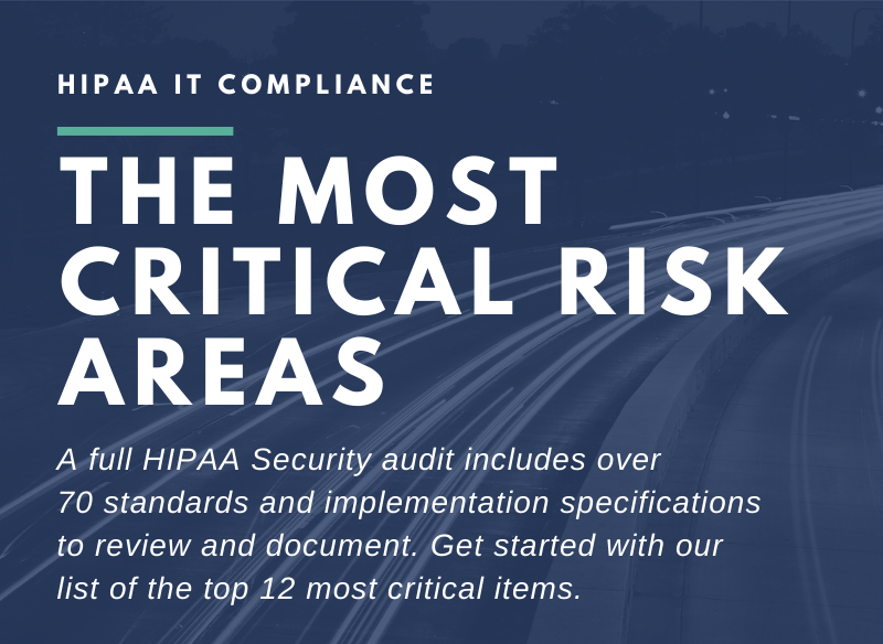 HIPAA IT Compliance Checklist